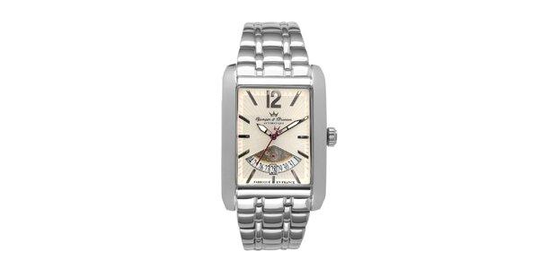 Pánske oceľové hodinky Yonger & Bresson s béžovým ciferníkom