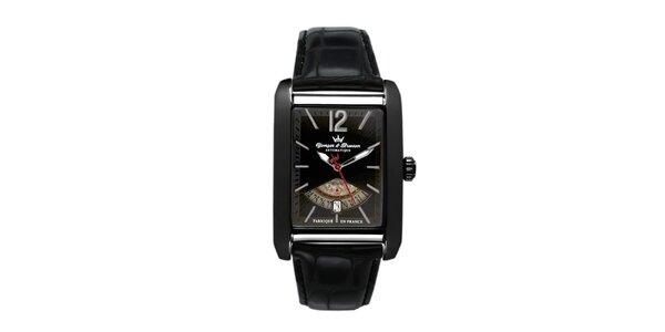 Pánske čierne oceľové hodinky Yonger & Bresson