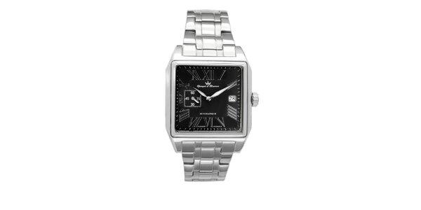 Pánske oceľové štvorcové hodinky Yonger & Bresson