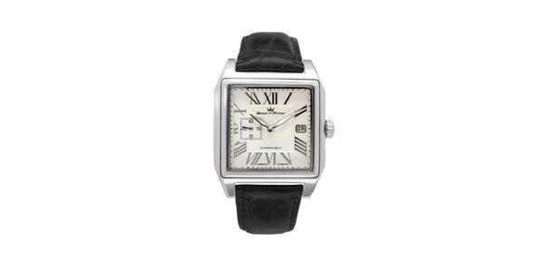 Pánske oceľové štvorcové hodinky Yonger & Bresson s béžovým ciferníkom a…