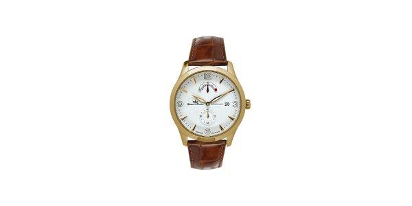Pánske multifunkčné zlaté oceľové hodinky Yonger & Bresson