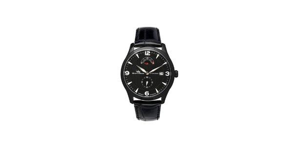 Pánske multifunkčné čierne oceľové hodinky Yonger & Bresson