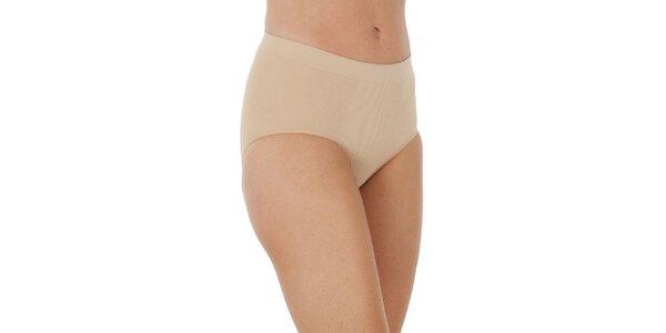 Set troch dámskych béžových sťahovacích nohavičky Marie Claire