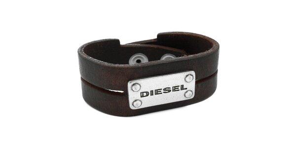 Hnedý kožený náramok Diesel