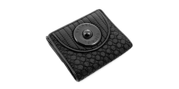 Čierna prešívaná peňaženka Diesel
