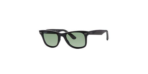 Čierne polarizované slnečné okuliare Ray-Ban Wayfarer