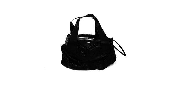 Priestranná čierna kabelka Diesel s veľkými uchami