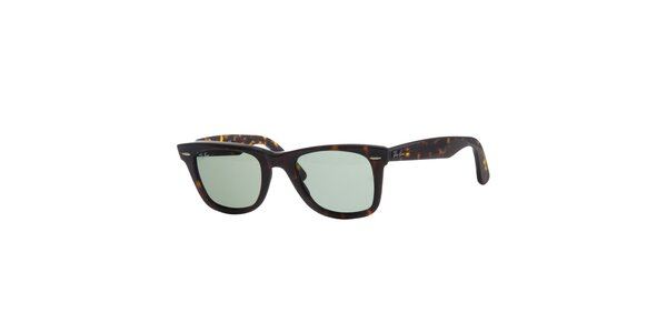 Tmavo hnedé žíhané slnečné okuliare Ray-Ban Wayfarer