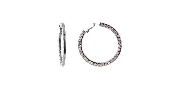 Dámske kruhové náušnice Majique s kryštáľmi