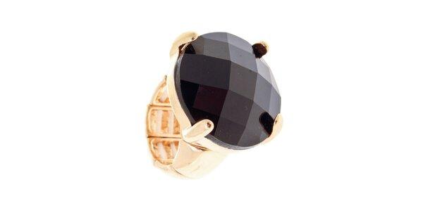 Dámsky prsteň s veľkým čiernym kryštáľom Majique