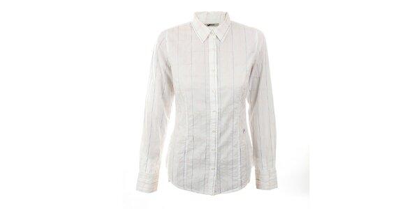 Dámska biela košeľa s pastelovými švami GAS