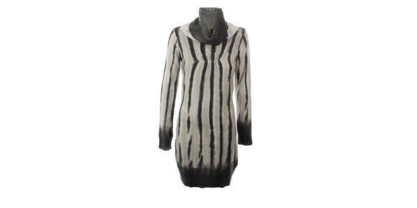 Dámske šedé úpletové šaty s prímesou kašmíru GAS