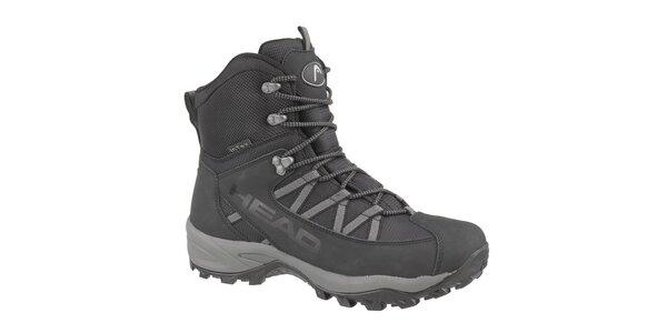 Pánske čierne vysoké zimné trekingové boty Head s membránou