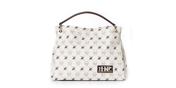 Dámska biela kabelka s koníkmi Beverly Hills Polo Club