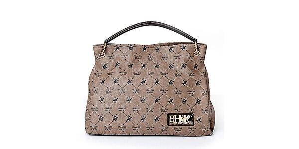 Dámska šedobéžová kabelka s koníkmi Beverly Hills Polo Club