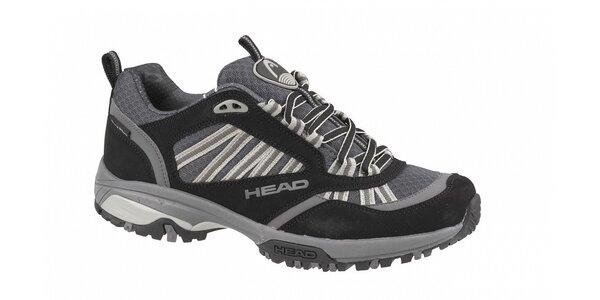 Pánska čierno-šedá nízka bežecká terénna obuv