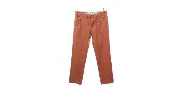 Pánske tehlovo oranžové nohavice Tommy Hilfiger