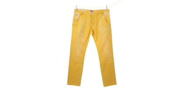 Pánske žiarivo žlté nohavice Tommy Hilfiger