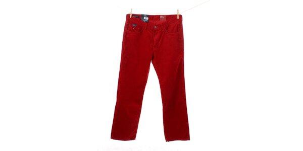 Pánske červené menčestráky Tommy Hilfiger