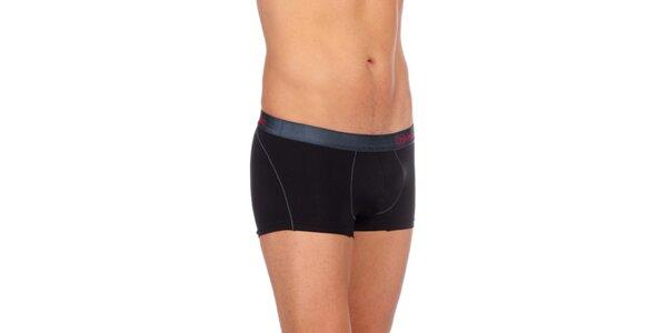 Pánske čierne priliehavé boxerky Calvin Clein Underwear s nízkym pásom