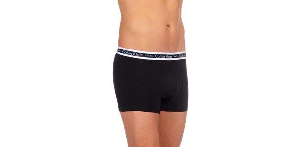 Pánske čierne spodné prádlo Calvin Klein Underwear s bielym vrchným lemom