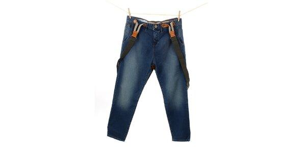 Dámske modré džínsy s trakmi Tommy Hilfiger