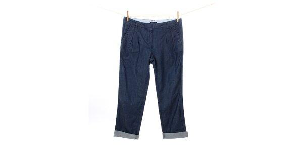 Dámske modré džínsy Tommy Hilfiger s naberaním v páse
