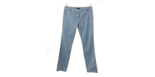 Dámske modré plátené nohavice Tommy Hilfiger