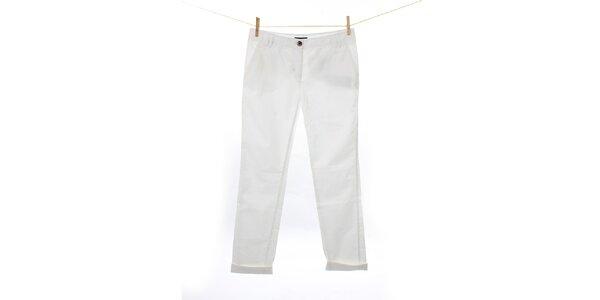 Dámske biele plátené nohavice Tommy Hilfiger