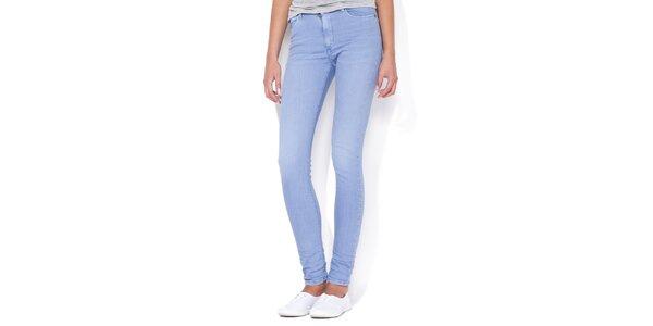Dámske pastelovo modré skinny džínsy Blue Roses