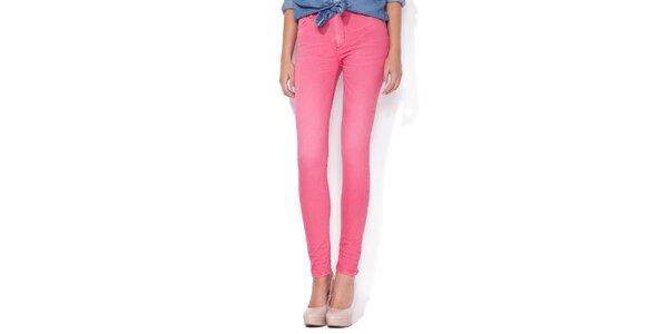 Dámske cukrovo ružové skinny džínsy Blue Roses