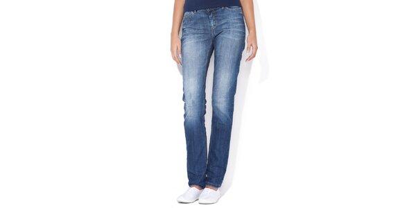 Dámske jemne šisované rovné džínsy Blue Roses
