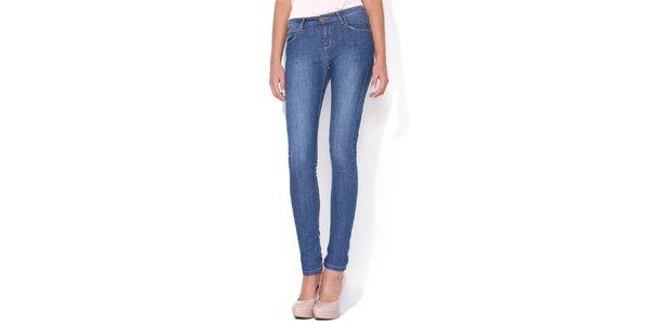 Dámske úzke modré skinny jeans Blue Roses
