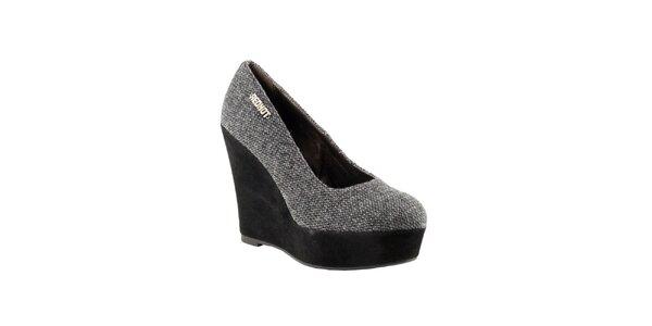 Dámske šedé topánky na kline Red Hot