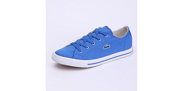 Dámske svetlo modré plátené tenisky Lacoste