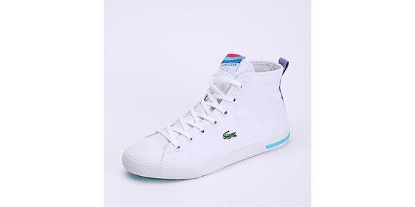 Dámske biele členkové tenisky Lacoste