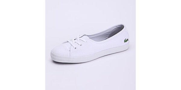Dámske biele nízke tenisky Lacoste