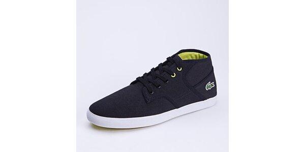 add58d7f56b4 Pánske topánky Lacoste – športová klasika s logom krokodíla. Táto kampaň už  skončila. Pánske čierne plátené tenisky Lacoste