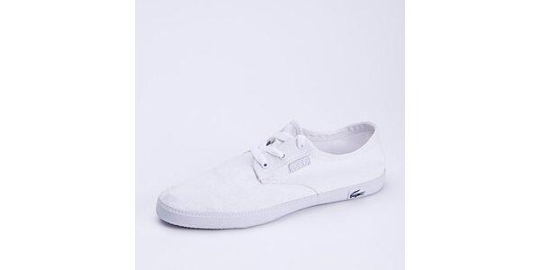 Pánske biele plátené nízke tenisky Lacoste