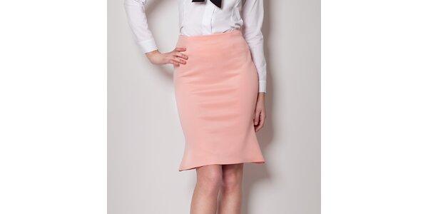 Dámska ružová sukňa do pásu Figl