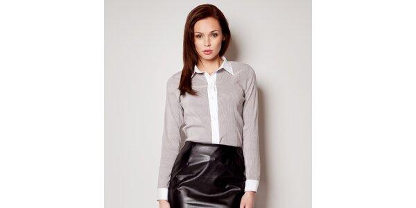 Dámska čierno-biela pruhovaná košeľa Figl