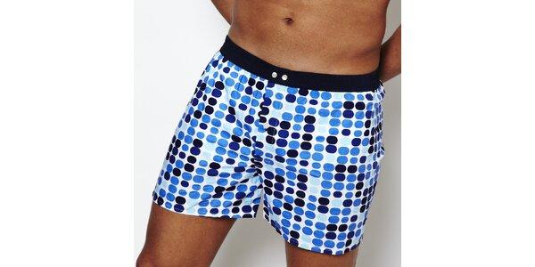 Pánske boxerky Color Code s modrými bodkami