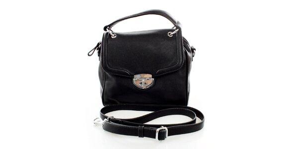 Dámska malá čierna kabelka so zámčekom United Colors of Benetton