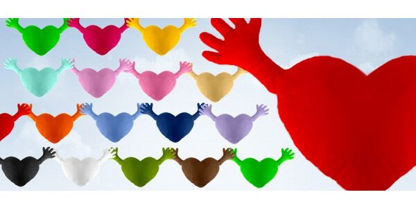 15 eur za vankúš v tvare srdca - charitatívna akcia