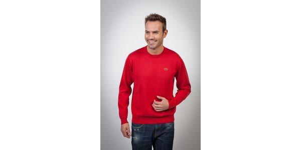 Pánsky sýto červený sveter Spagnolo