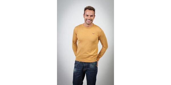 Pánsky horčicový sveter Spagnolo