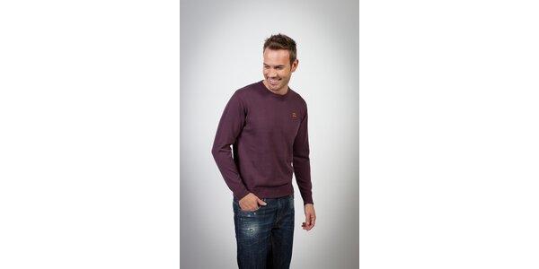Pánsky tmavo fialový sveter Spagnolo