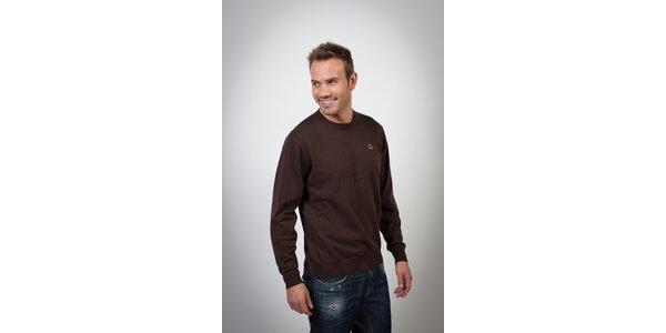 Pánsky tmavo hnedý sveter Spagnolo