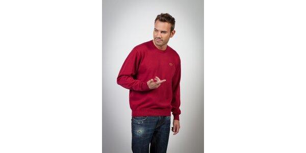 Pánsky fialovo-červený sveter Spagnolo