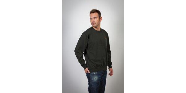 Pánsky čierny sveter Spagnolo